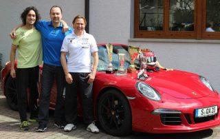 Von links nach rechts: Claudio Trento, Personal Trainer; Stephan Müller; Andreas Sczepansky Rennfahrer